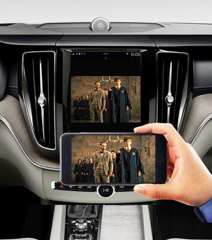 Беспроводное подключение смартфона к монитору Volvo XC90 II