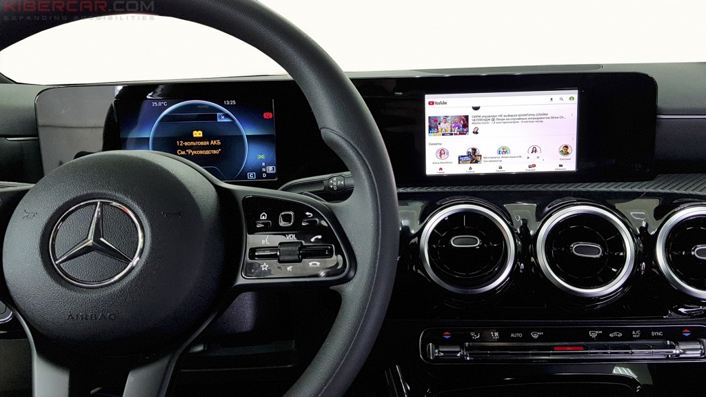 Mercedes Benz A-Class мультимедийный навигационный блок AirTouch Performance Android 8 YouTube